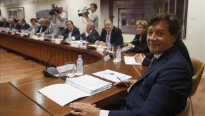 José Ramón Lete y los presidentes de la federaciones territoriales en la reunión mantenida en el CSD.