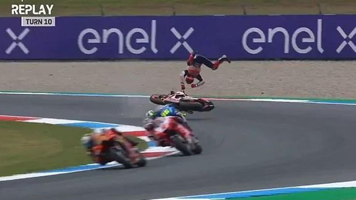 25/06/2021 Marc Marquez accidente en el circuito de Assen