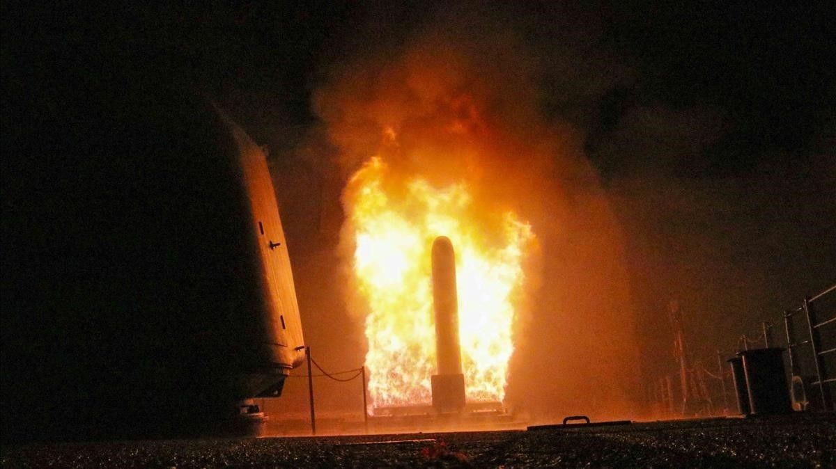 Uno de los misiles lanzados por EEUU en la operación.