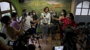 Cristiana Chamorro, en rueda de prensa.