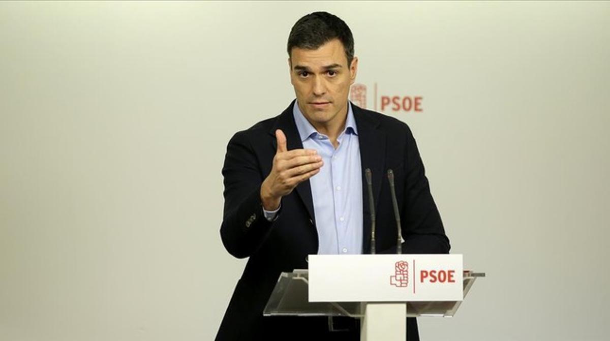 Pedro Sánchez,el pasado 11 de enero en la sede del PSOE.
