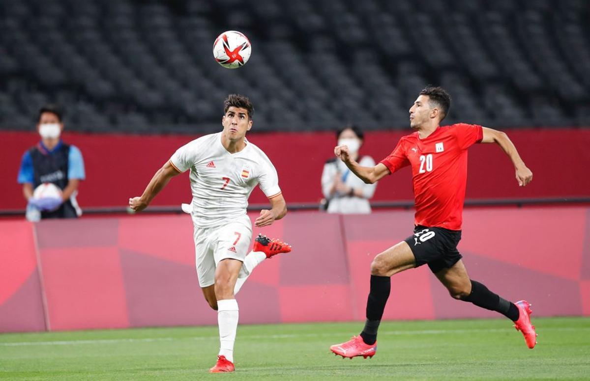 Marco Asensio fue de los más incisivos en el debut ante Egipto.