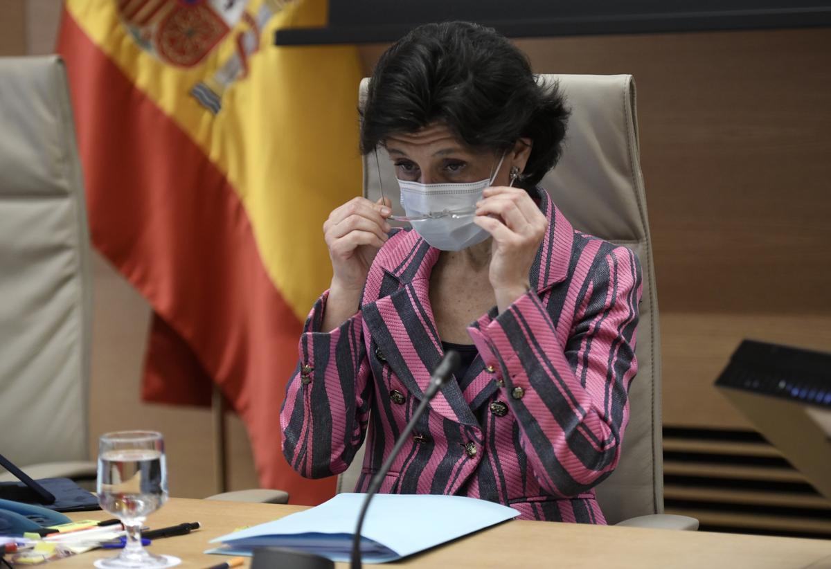 La presidenta del Tribunal de Cuentas, María José de la Fuente y de la Calle, el pasado 18 de mayo, a su llegada a la Comisión Mixta Congreso-Senado.