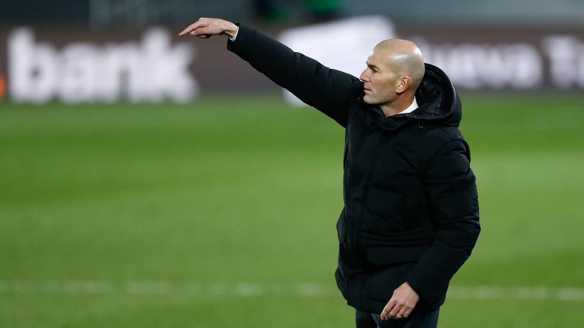 Zidane, en un partido del Madrid.