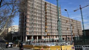 Obras en Barcelona de vivienda nueva
