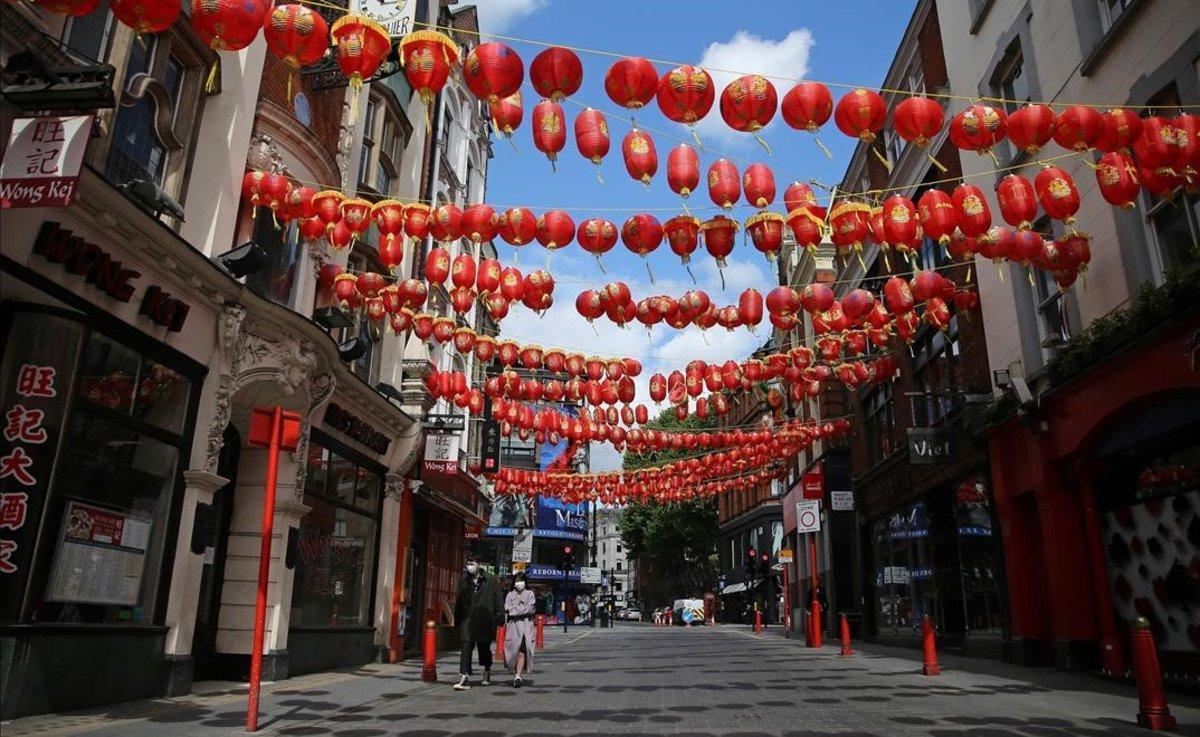 El barrio de Chinatown, en Londres.