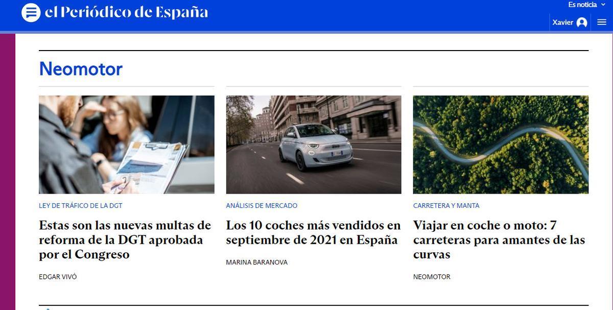 Neomotor crece con El Periódico de España