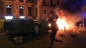 Segundo dia de disturbios por la detención de Pablo Hasél