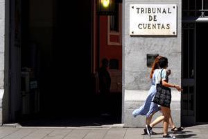 Fachada de la sede del Tribunal de Cuentas, en Madrid.