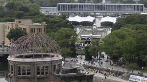 Hiroshima recuerda el 75 aniversario de la bomba nuclear.