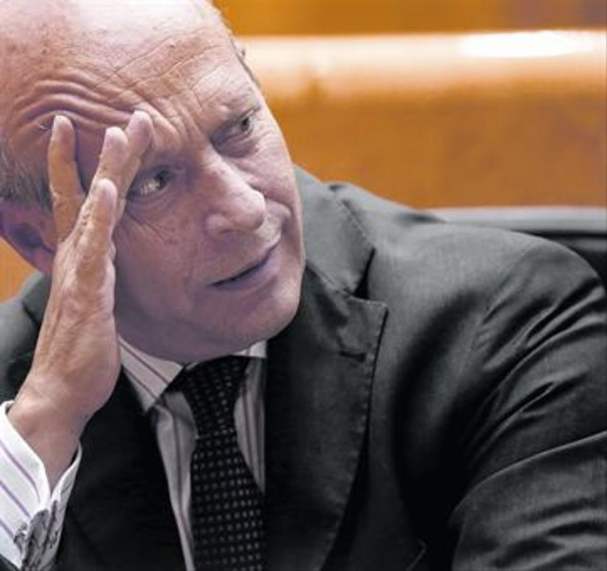 José Ignacio Wert, en una sesión de control en el Senado, en el 2014.