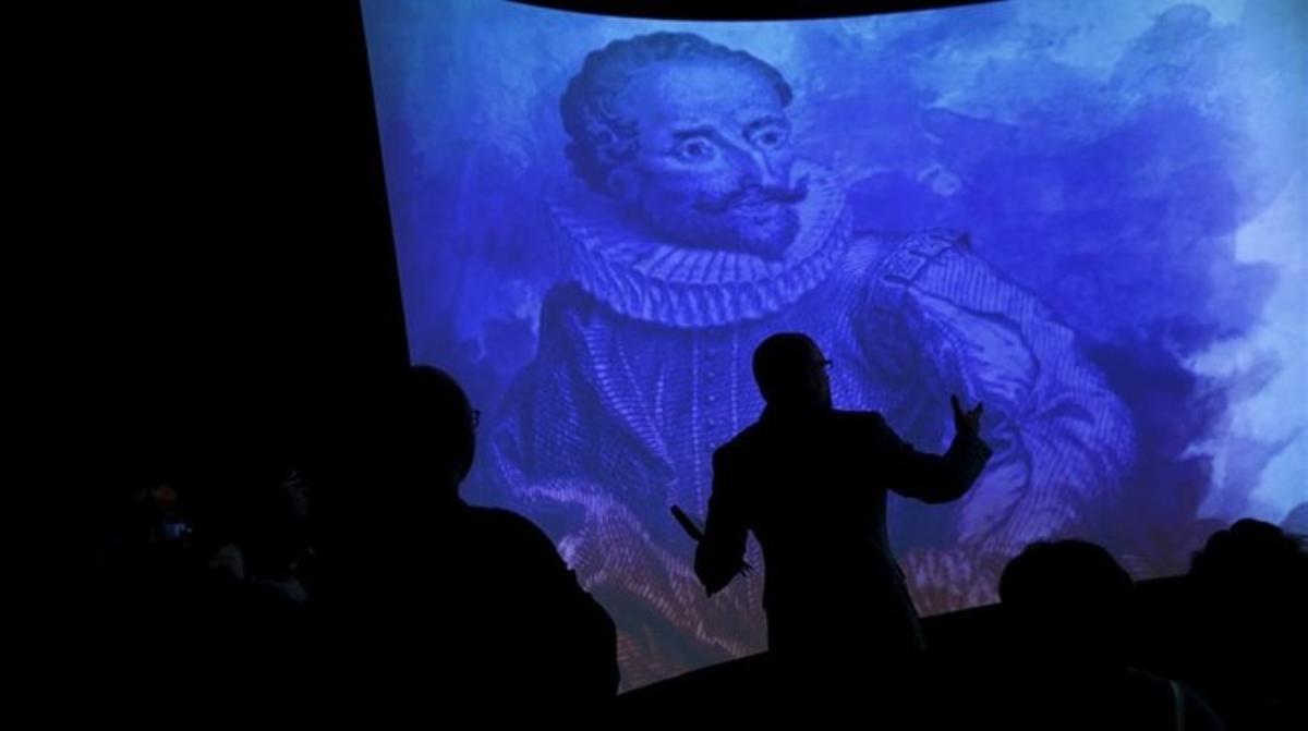 Imagen de la exposición 'Cervantes: de la vida al mito', en la Biblioteca Nacional de Madrid.