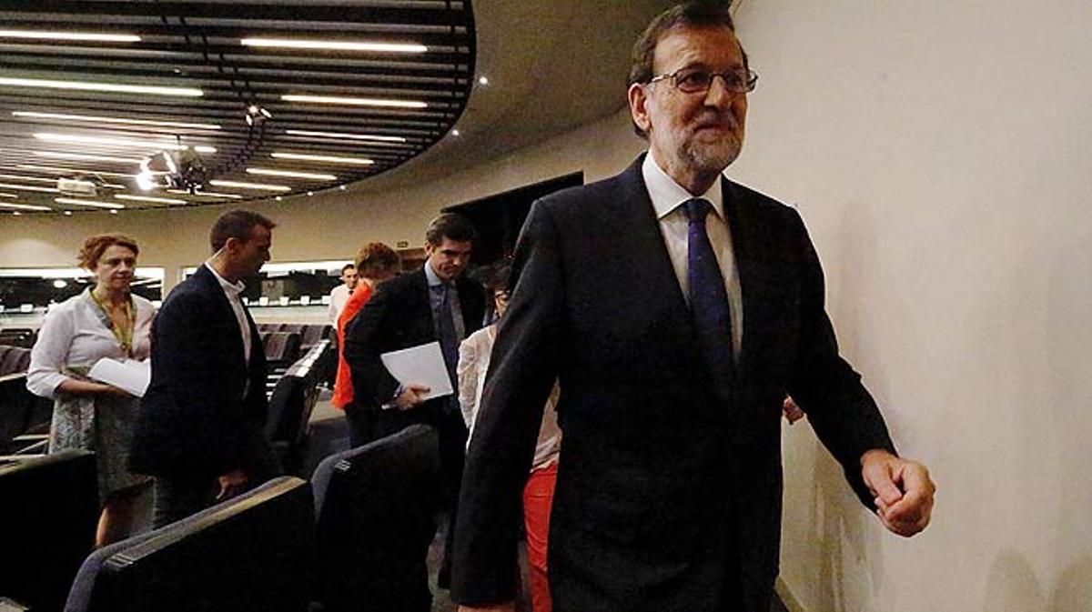 Comparecencia de Mariano Rajoy tras conocerse el 'sí' al 'brexit'.