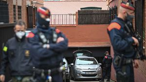 Operación contra el tráfico de marihuana en Barcelona, en la calle del Marqués de la Foronda, 24.