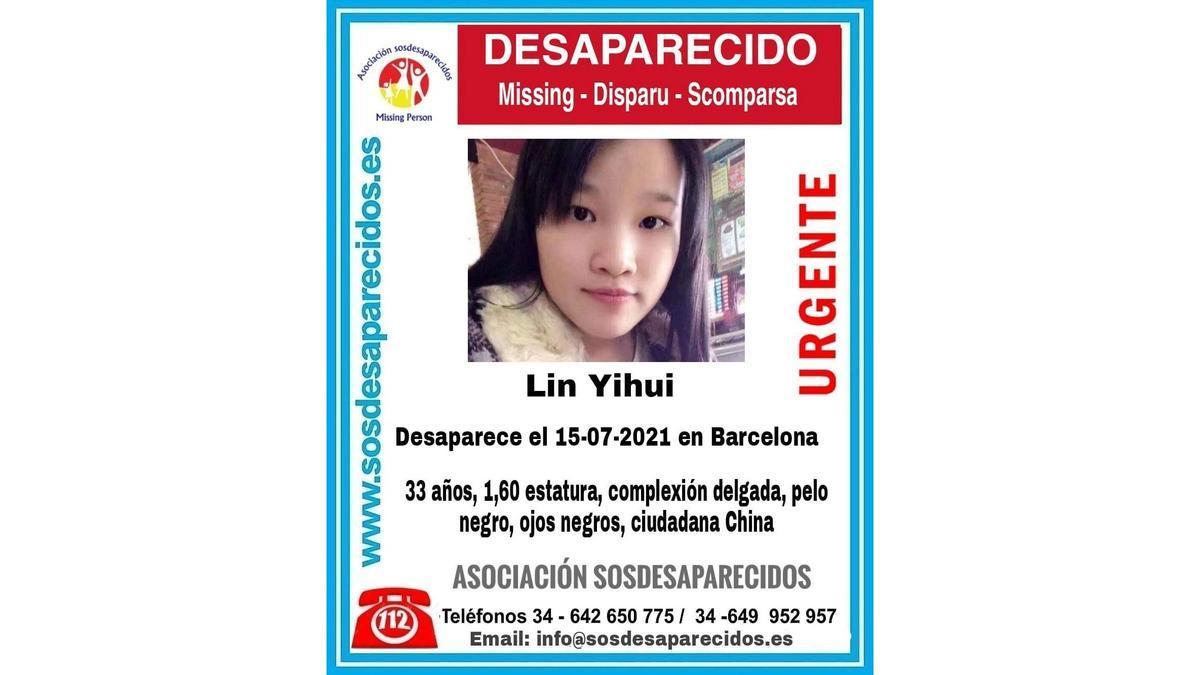 Lin Yihui, desaparecida