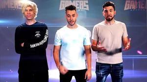 Los 'youtubers' Rubius,Grefg y Willyrex, asesores de 'Top Gamers Academy'.