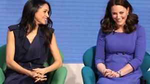 Meghan Markle y Kate Middleton, juntas en Londres durante un acto