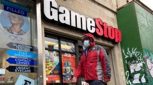 Una tienda de GameStop de Nueva York.