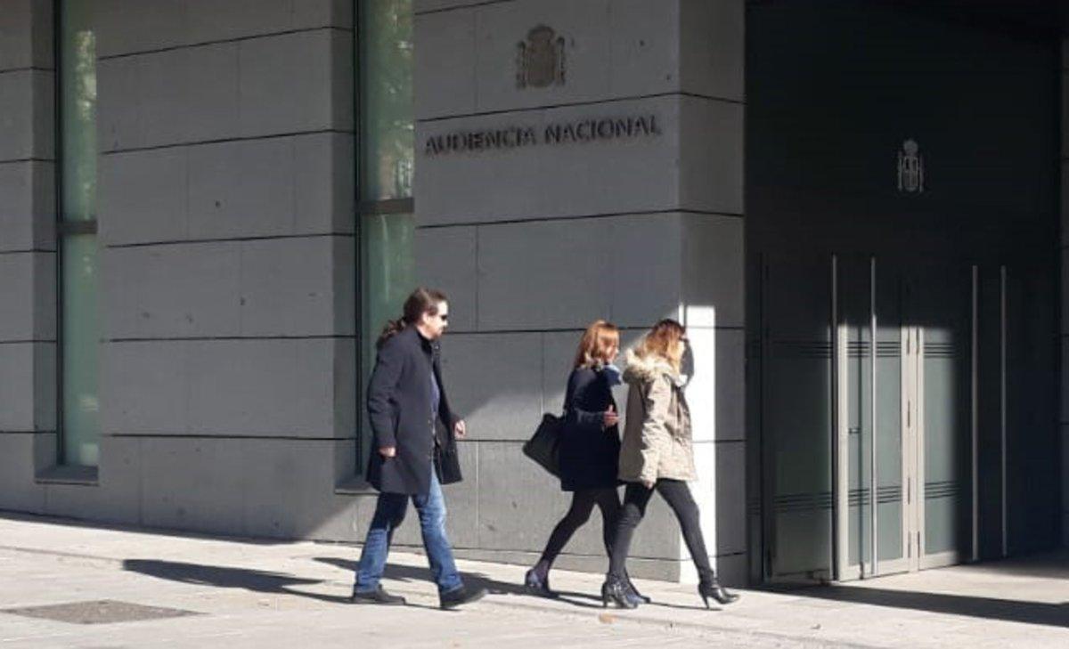 Pablo Iglesias llega a la Audiencia Nacional.