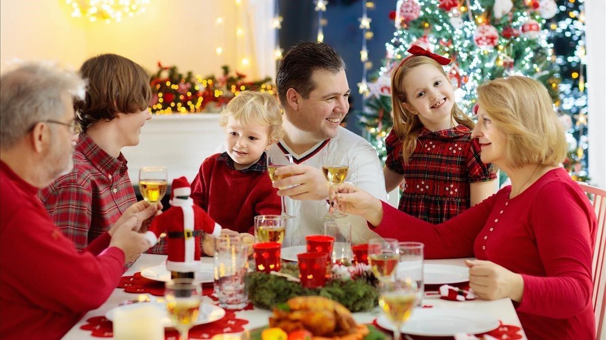 Una cena navideña en familia.