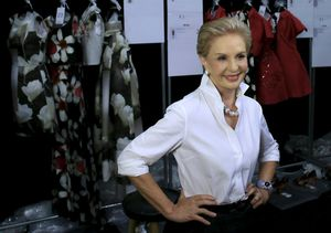 Carolina Herrera, durante la Fashion Week de Nueva York de 2014.