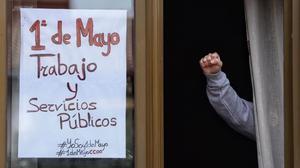 Cartel del 1 de Mayo, Día del Trabajador.