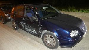 El vehículo que ocasionó el accidente.
