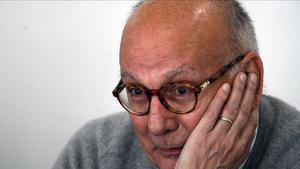 Mario Camus, en el 2010, cuando la Academia de Cine le otorgó el Goya de Honor.