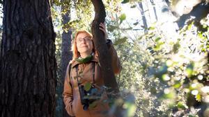 La filósofa Marta Tafalla, en el bosque de Volpelleres de Sant Cugat.