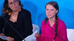 'Aquí y ahora es donde damos un paso adelante, el cambio viene, les guste o no', dijo Greta en el comienzo de la Cumbre de Acción Climática que se celebra hoy en la sede de Naciones Unidas.