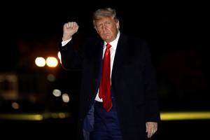 Trump, en una imagen del pasado 12 de diciembre a su llegada a la Casa Blanca.