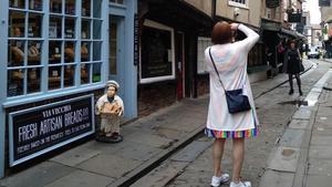 Una calle de la ciudad de York.