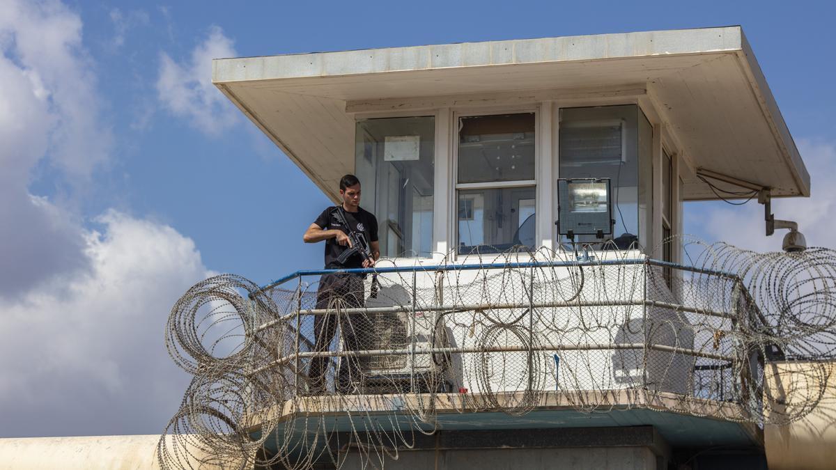La prisión de Gilboa, la de más alta seguridad de Israel, de donde han escapado seis presos palestinos.