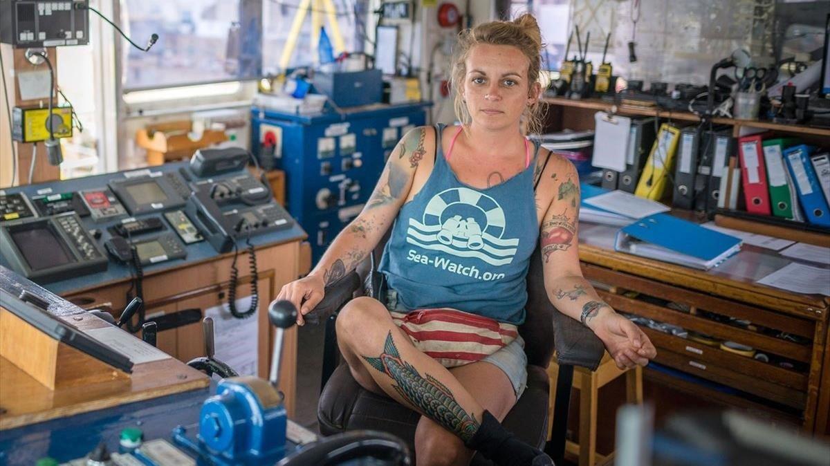 Pia Klemp, la capitana del barco.