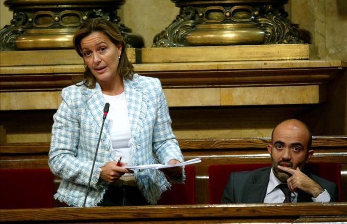 Mejías, en el Parlament, cuando era diputada.