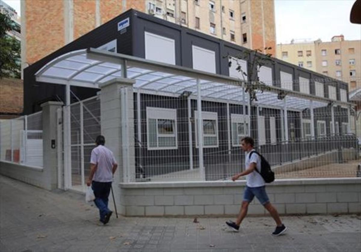 Los barracones del Institut Viladomat.