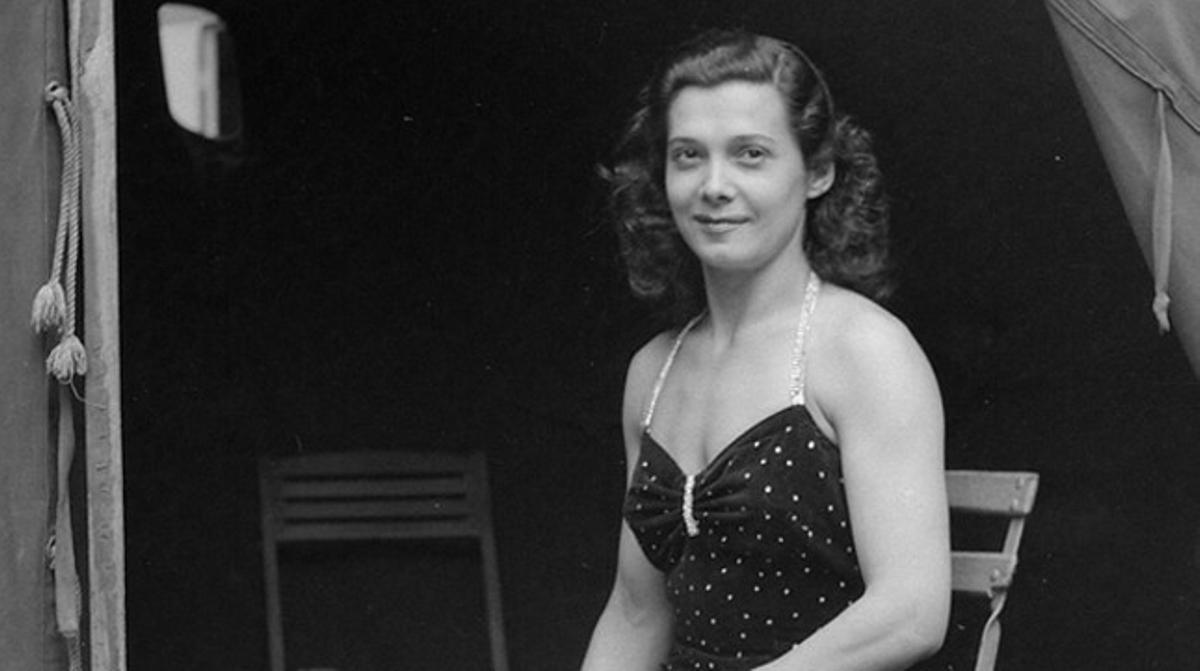 Marina Tomas Jorba, en una imagen tomada en los años 50.