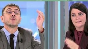 "Macarena Olona (Vox) se revuelve contra Monedero por sacar a los hijos de Iglesias: ""¡Mentiroso! ¡Indecente!"""