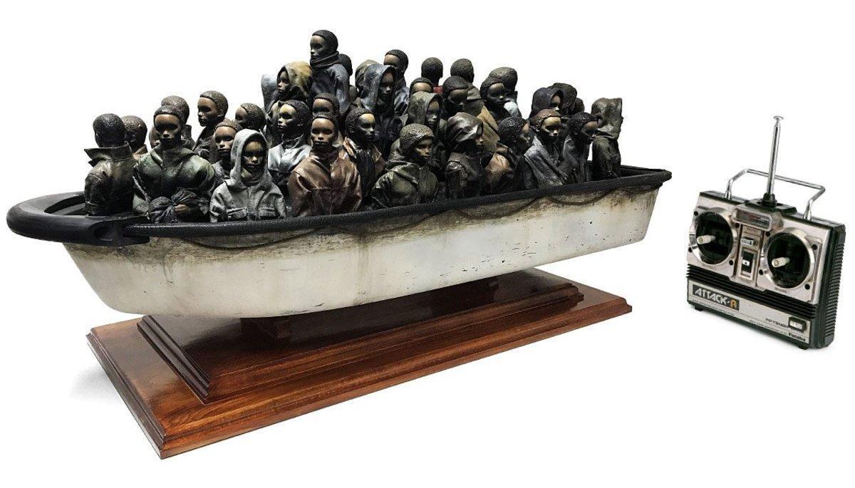 La obra de Banksy que se puede ganar si se acerta su peso.