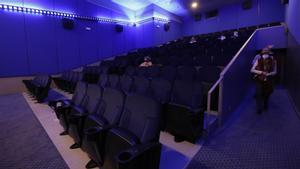 Una sala de cine de Barcelona, el pasado octubre.