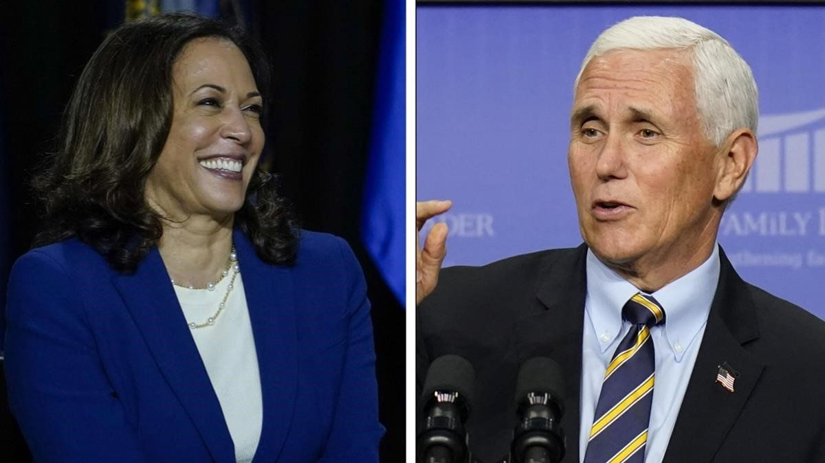 Kamala Harris y Mike Pence.