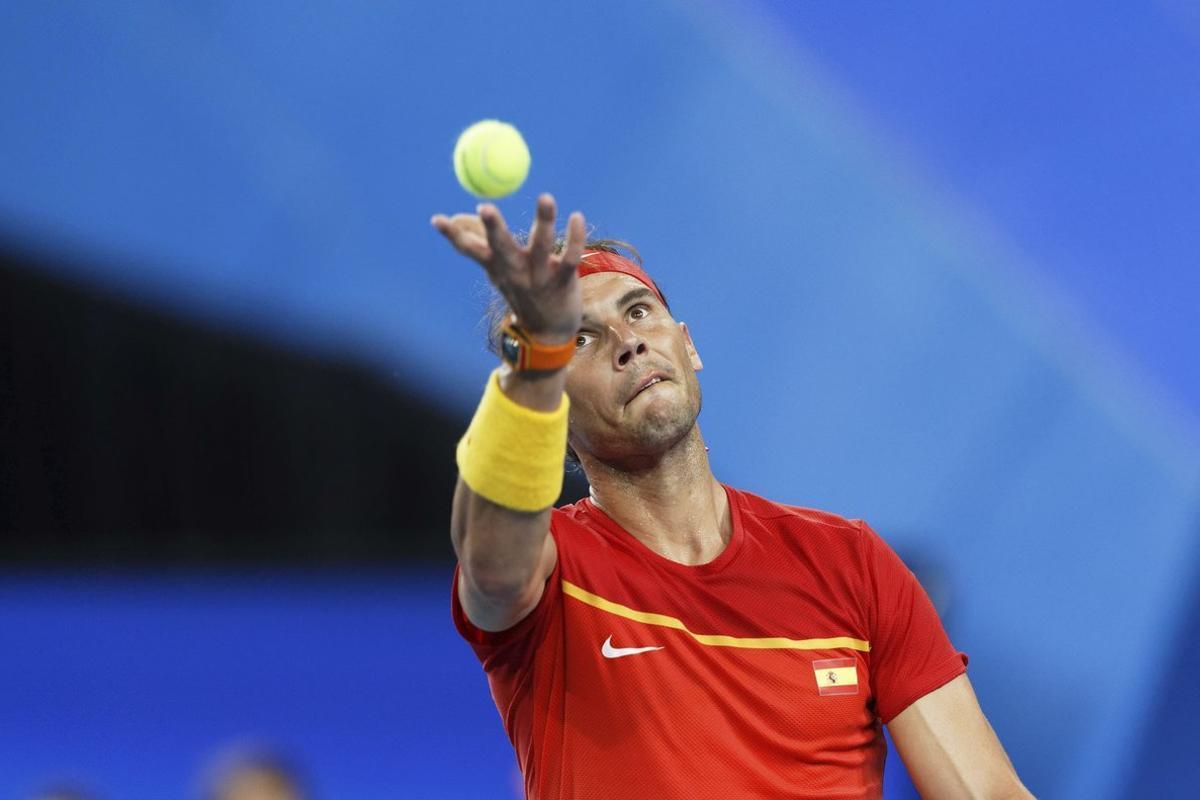 Rafael Nadal, en su victoria.