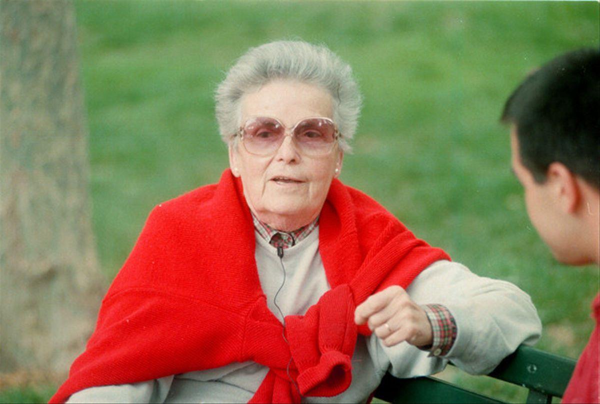 La escritora Teresa Pàmies, en una imagen de 1993.