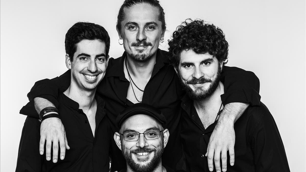 Los integrantes del Cuarteto Seikilos. formación emergente ganadora de los premios FestClásica.