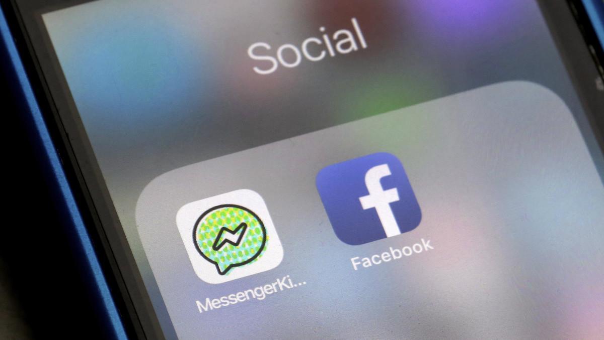 Logotipos de Messenger Kids y Facebook