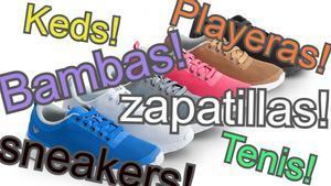 Nombres de las zapatillas deportivas.