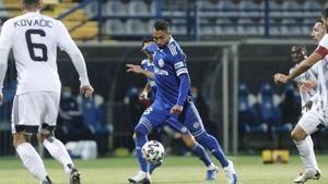 Jeffren Suárez, en un partido de esta temporada en Croacia.