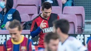 Leo Messi dedica su gol a Maradona.
