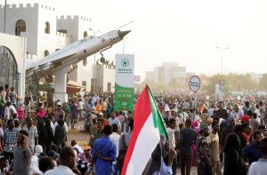 Protestas sociales en Sudán.