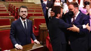 Pere Aragonès, investido 'president': Gobernaré para hacer posible la independencia de Catalunya.